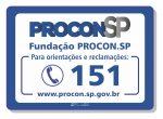 Adesivo Procon São Paulo