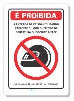Adesivo Proibido Capacete